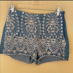 H&M chambray shorts
